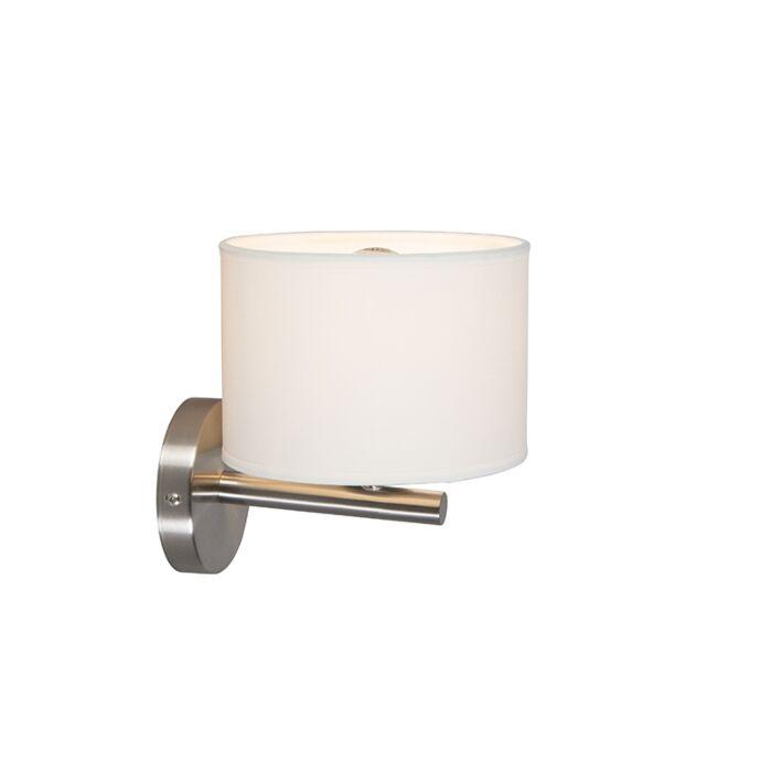 Moderne-wandlamp-wit-rond---VT-1