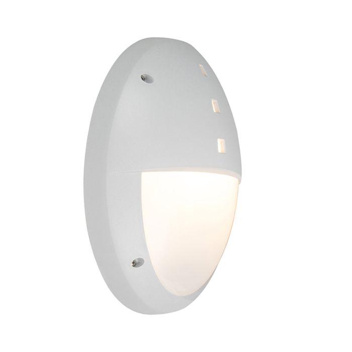 Moderne-ovale-buitenwandlamp-grijs-met-half-glas---Danzi