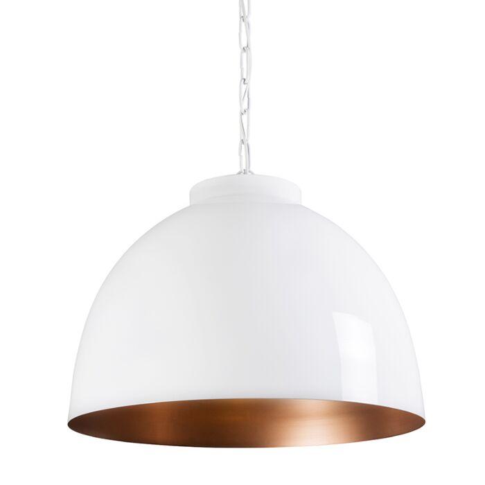 Hanglamp-Hoodi-XL-wit-koper