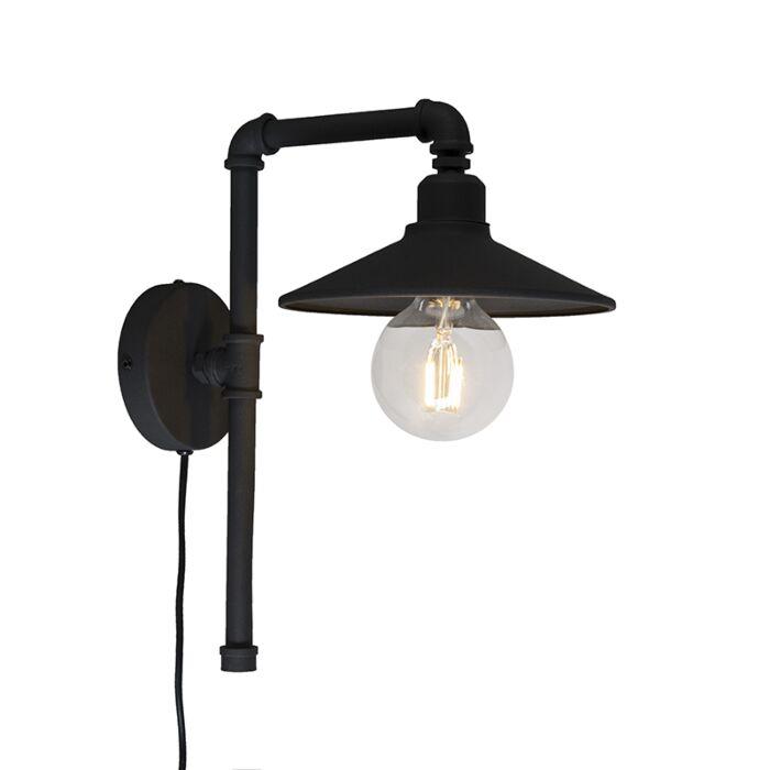Wandlamp-Laser-zwart