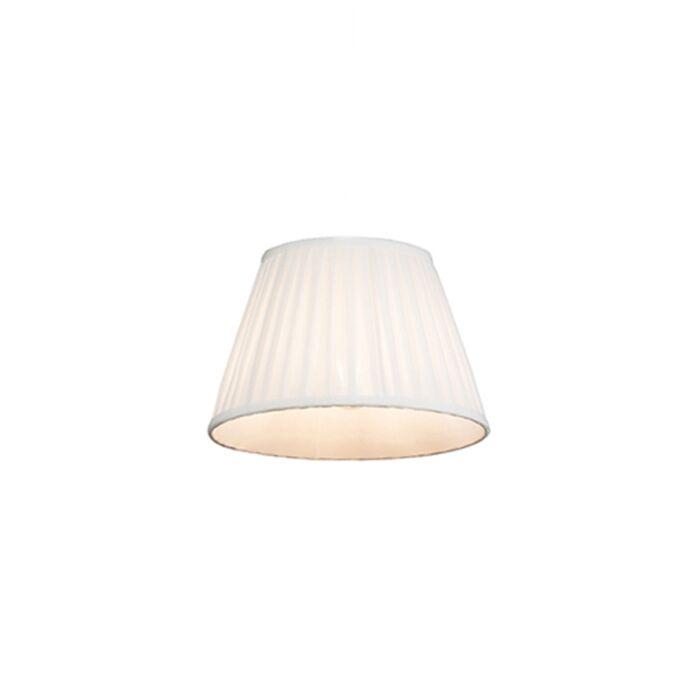 Plisse-lampenkap-wit-25/16,5-cm