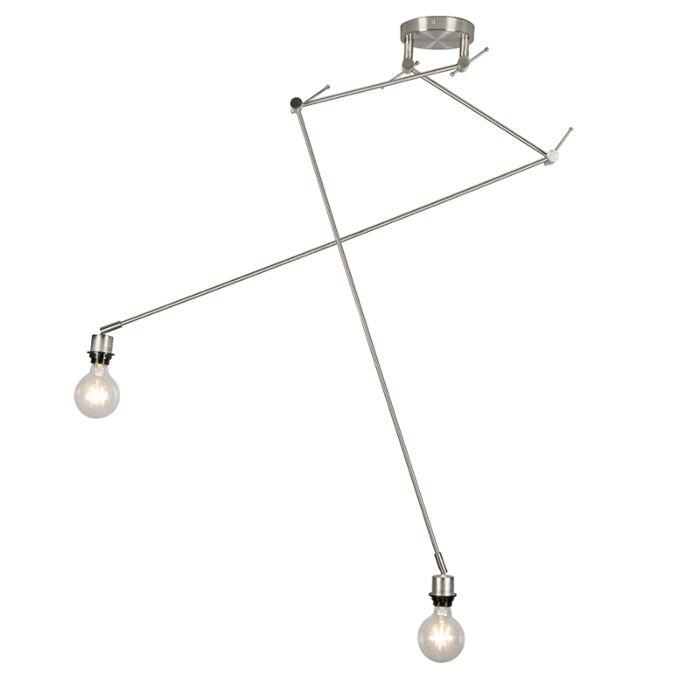 Moderne-hanglamp-staal-zonder-kap---Blitz-II