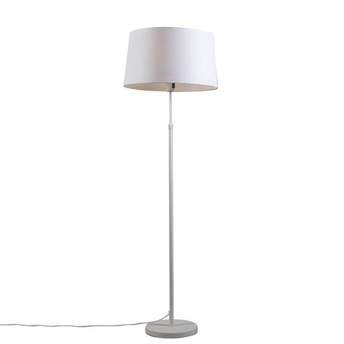Vloerlamp-wit-met-kap-wit-45-cm-verstelbaar---Parte