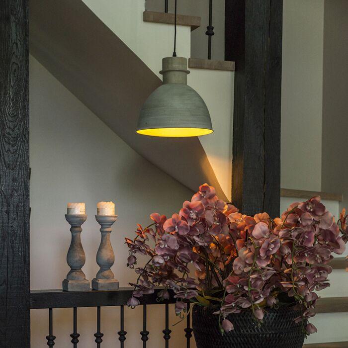 Landelijke-hanglamp-grijs---Dory