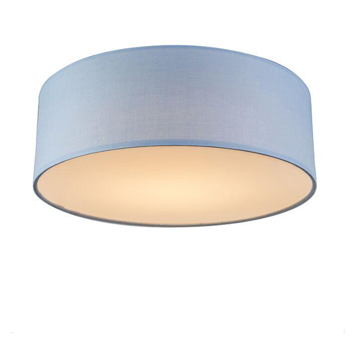 Plafondlamp-blauw-30-cm-incl.-LED---Drum-LED