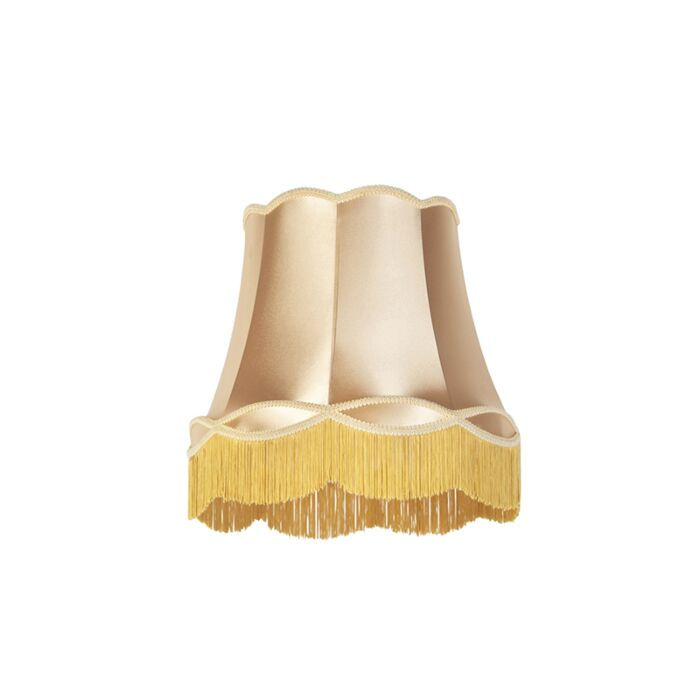Zijde-lampenkap-goud-45-cm---Granny
