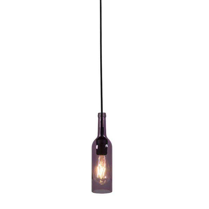 Hanglamp-Bottle-roze