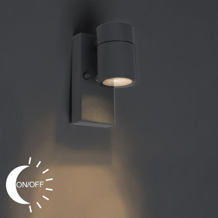 Buitenwandlamp-antraciet-IP44-met-licht-donker-sensor---Solo