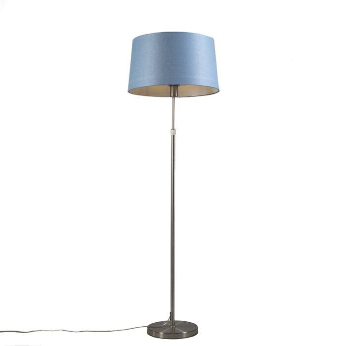 Vloerlamp-staal-met-kap-blauw-45-cm-verstelbaar---Parte
