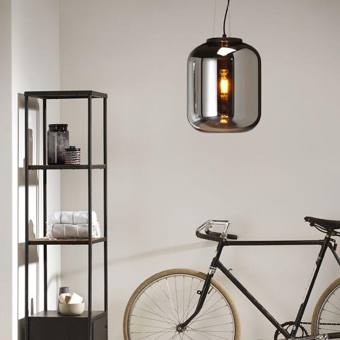 Design-hanglamp-zwart-met-smoke-glas---Bliss
