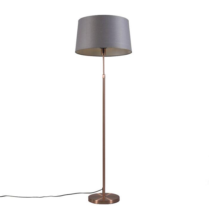 Vloerlamp-koper-met-kap-grijs-45-cm-verstelbaar---Parte