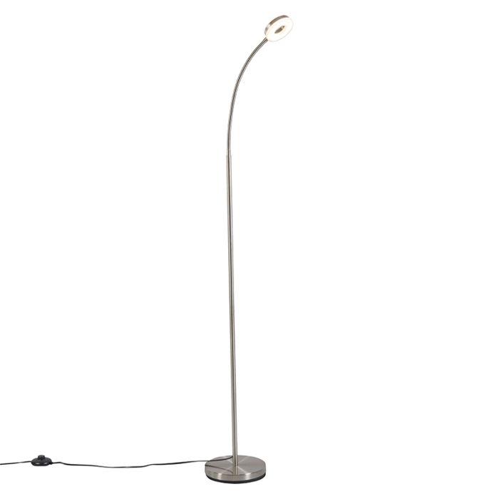 Moderne-leeslamp-staal-met-flexibele-arm-inclusief-Led---Crach