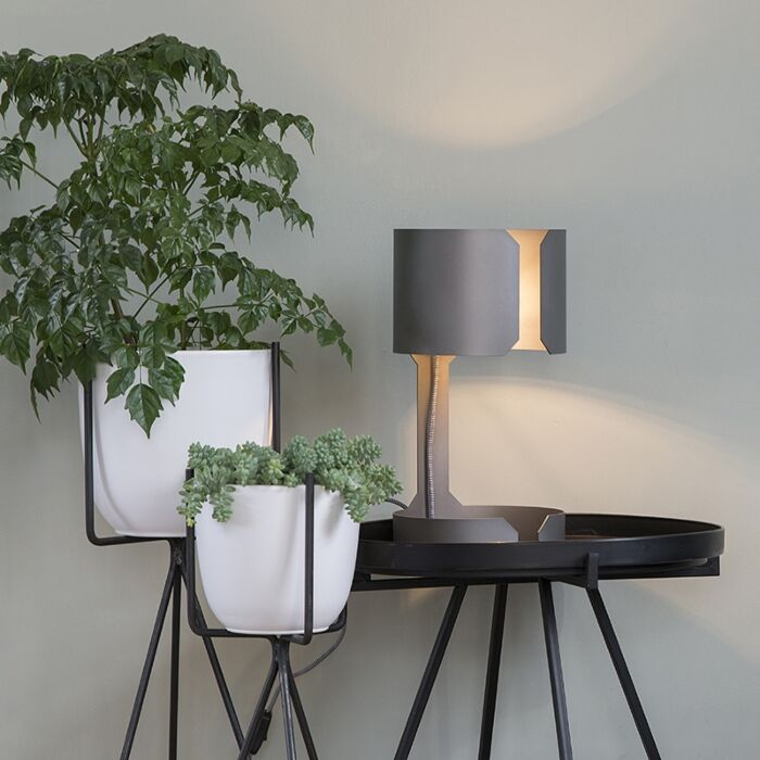 Design-tafellamp-mat-staal---Waltz