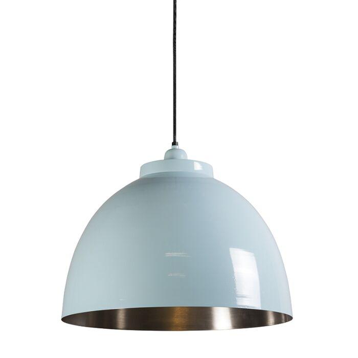 Hanglamp-Hoodi-lichtblauw-nikkel