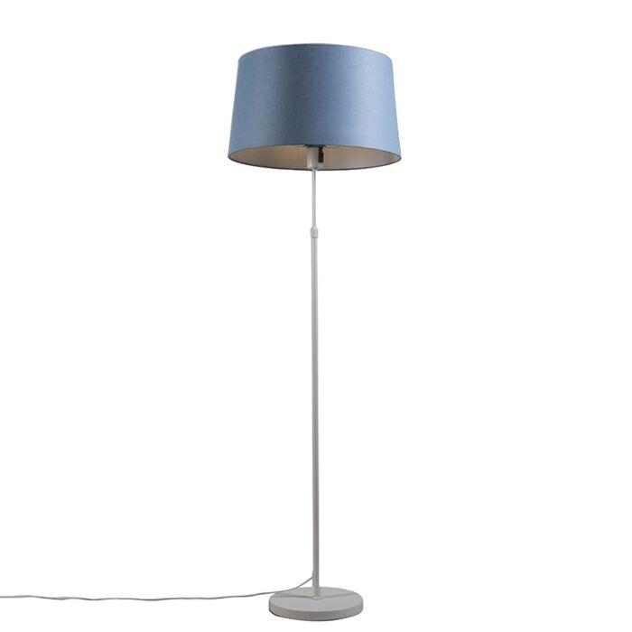 Vloerlamp-wit-met-kap-blauw-45-cm-verstelbaar---Parte