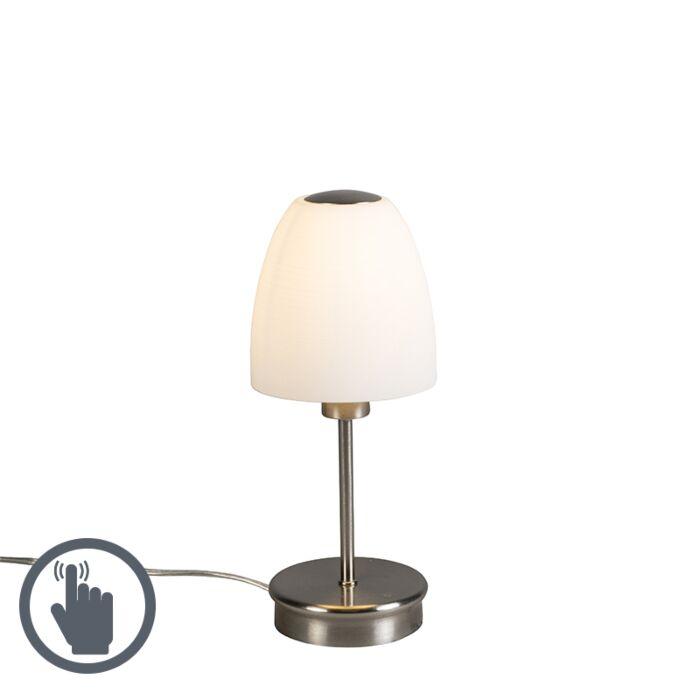 Tafellamp-Tablet-1-staal-met-touch