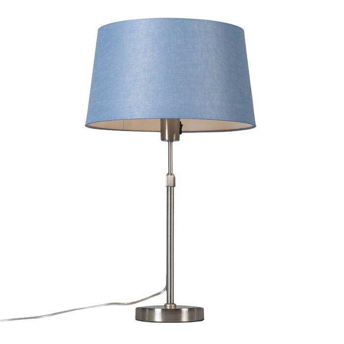 Tafellamp-staal-met-kap-blauw-35-cm-verstelbaar---Parte