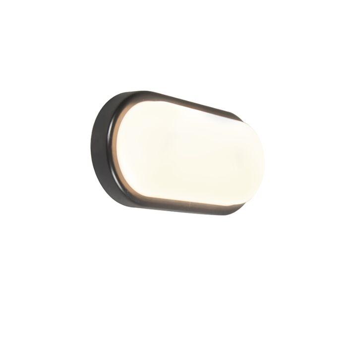 Wandlamp-United-8W-ovaal-zwart