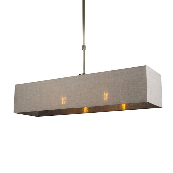 Hanglamp-Mix-2-brons-met-rechthoekige-kap-lichtbruin