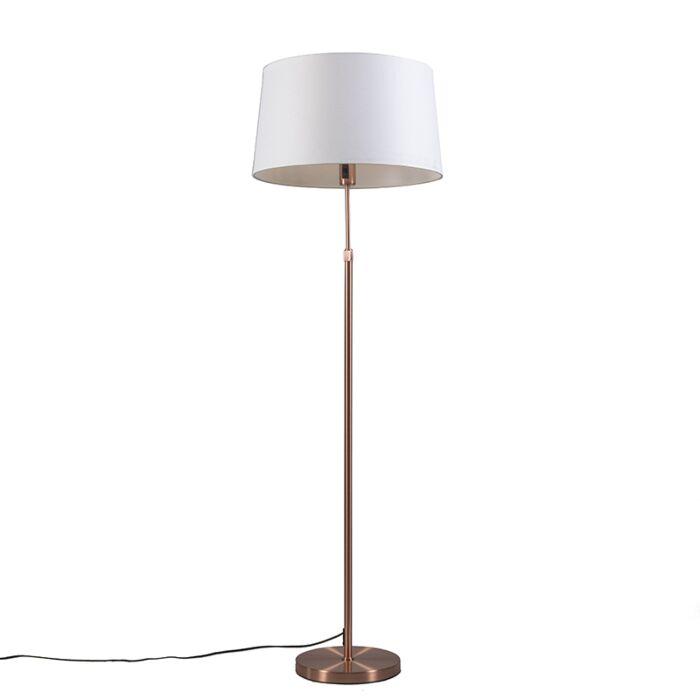 Vloerlamp-koper-met-kap-wit-45-cm-verstelbaar---Parte