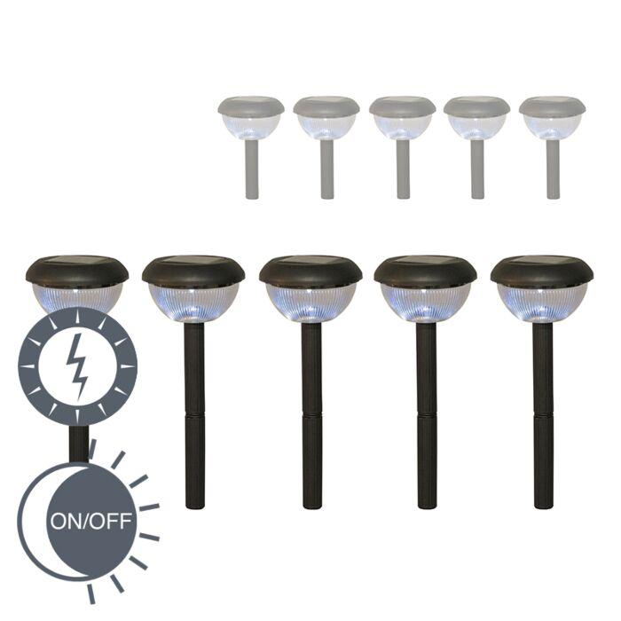 Buitenlamp-Larza-Solar-Led-zwart-set-van-5