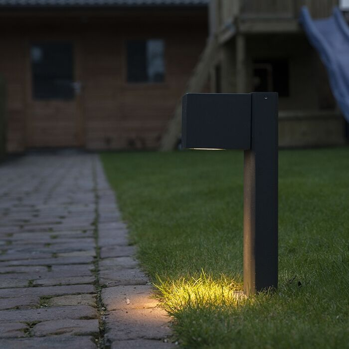 Industriële-staande-buitenlamp-antraciet-30-cm-IP44---Baleno