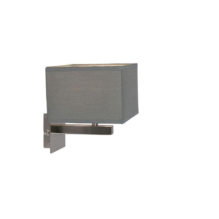 Moderne-wandlamp-grijs---VT-1