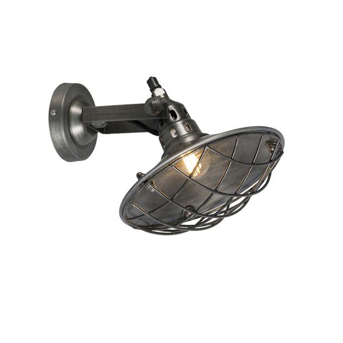 Rustieke-wandlamp-staal-kantelbaar---Stradt