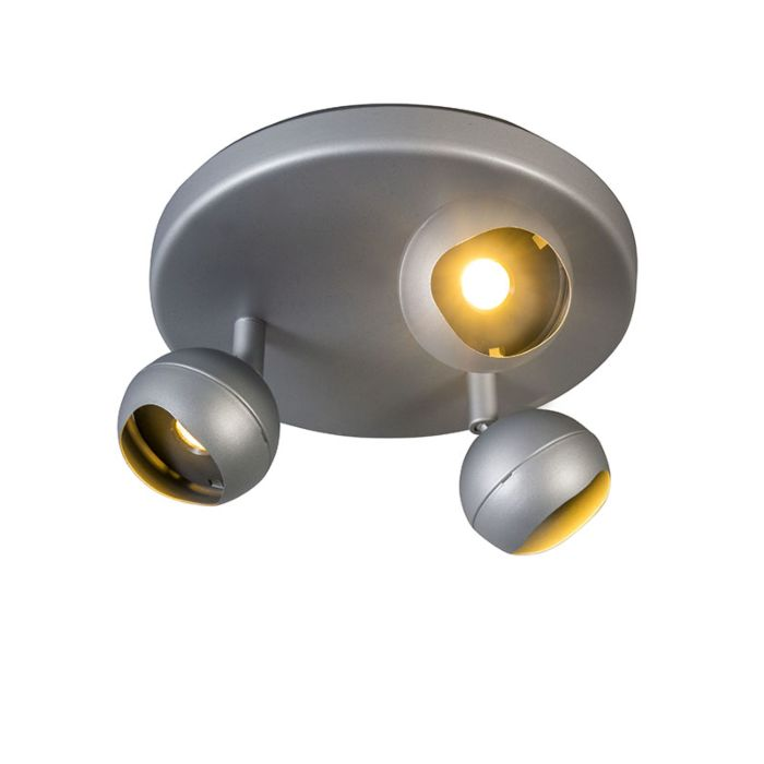 Spot-Gloob-3-LED-3000K-rond-grijs