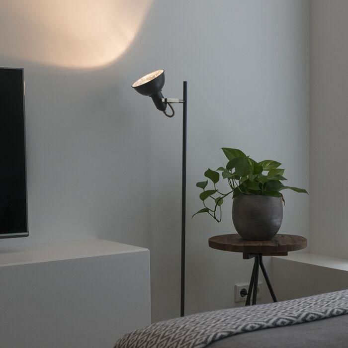 Moderne-vloerlamp-donkergrijs---Tommy-1