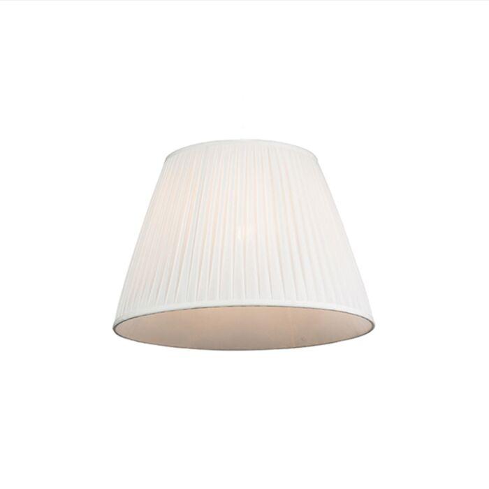 Plisse-lampenkap-wit-45/30-cm
