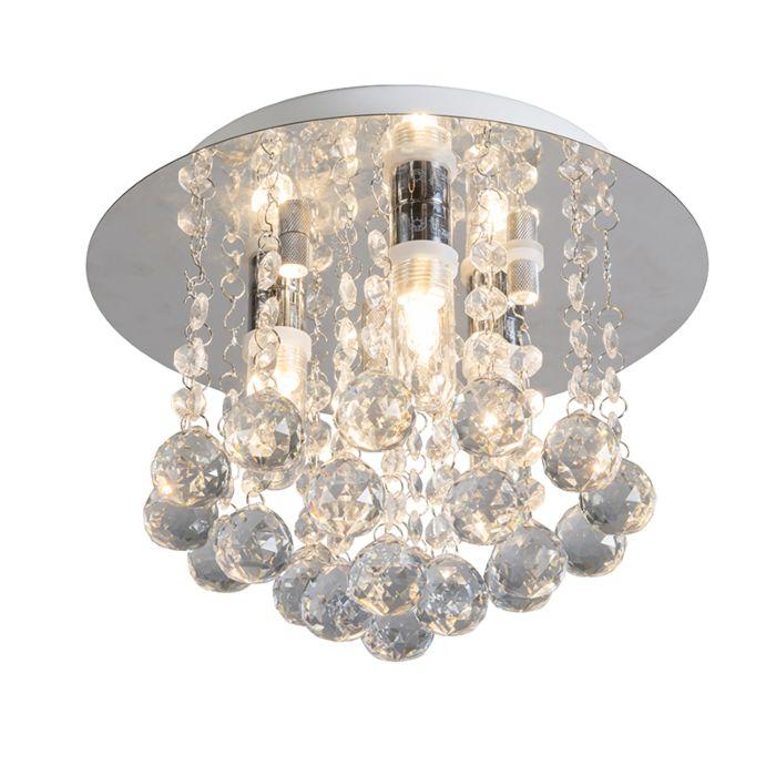 Plafondlamp-Perlin-wit-met-helder-glas