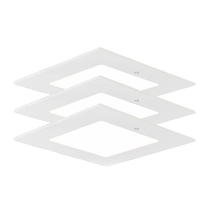 Inbouwspot-Radem-vierkant-6W-set-van-3