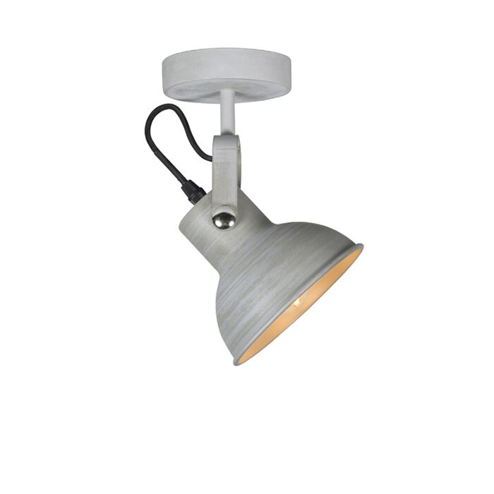 Industriële-wand--en-plafondlamp-grijs-kantelbaar---Guida