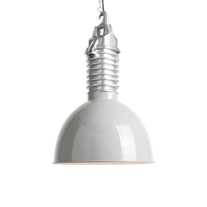 Industriële-hanglamp-met-licht-grijze-kap---Campa