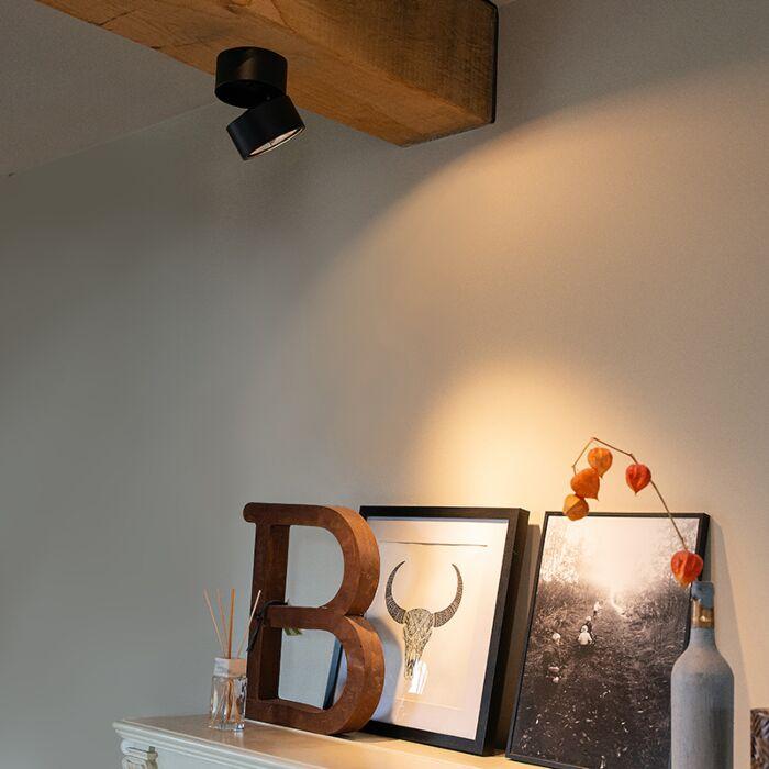 Moderne-spot-zwart-verstelbaar---Go-Nine-Tubo