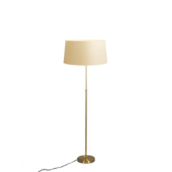 Vloerlamp-goud/messing-met-kap-crème-45-cm-verstelbaar---Parte