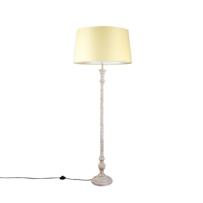 Vloerlamp-Classico-grijs-met-kap-45cm-creme