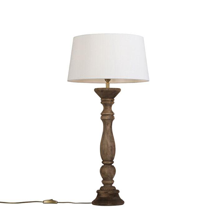 Tafellamp-Ritual-naturel-met-kap-35cm-wit