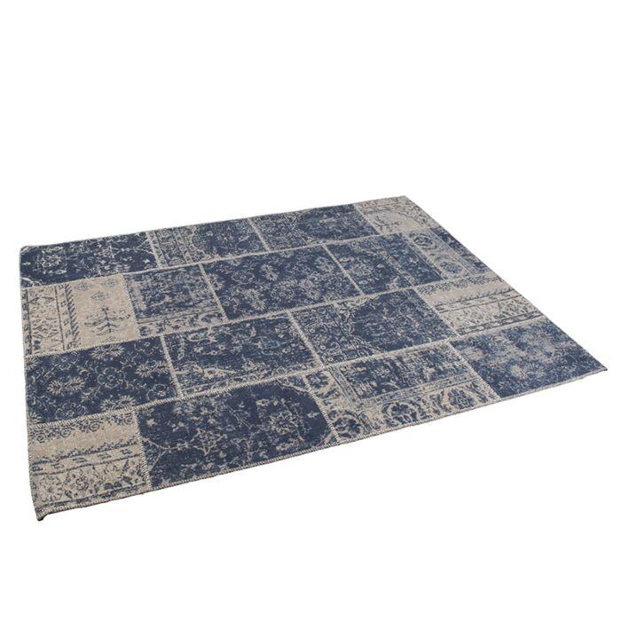 Vintage-rechthoekig-vloerkleed-blauw-160-x-230cm---Agra