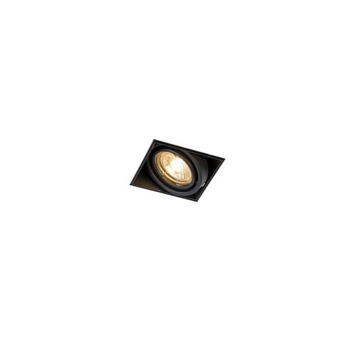 Inbouwspot-zwart-GU10-draai--en-kantelbaar-trimless---Oneon