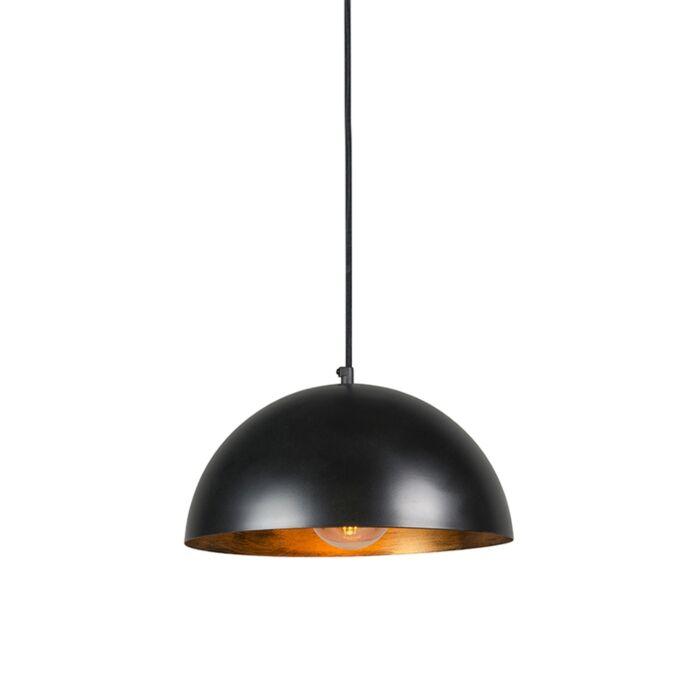 Industriële-hanglamp-zwart-met-goud-35-cm---Magna-Eco