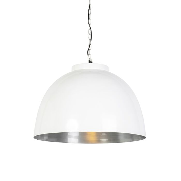 Hanglamp-wit-met-nikkel-binnenkant-60-cm---Hoodi
