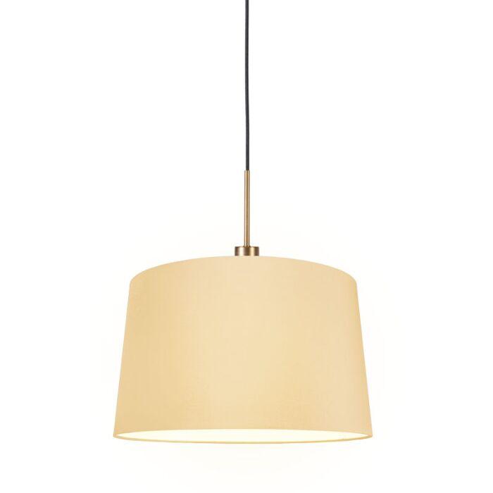 Hanglamp-Combi-1-brons-met-kap-45cm-creme