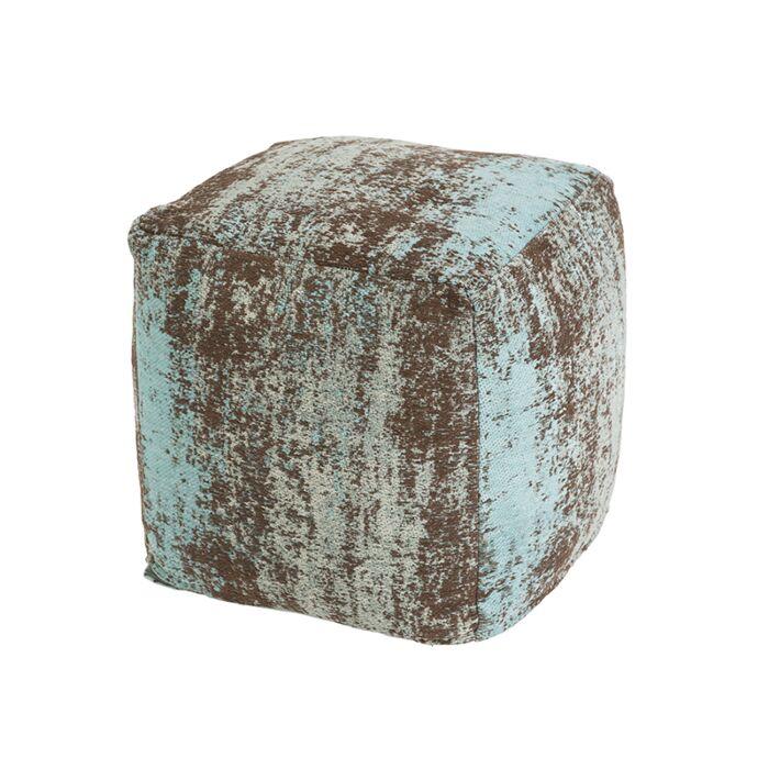Vintage-vierkant-poefje-turquoise-45-x-45-x-45cm---Kochi