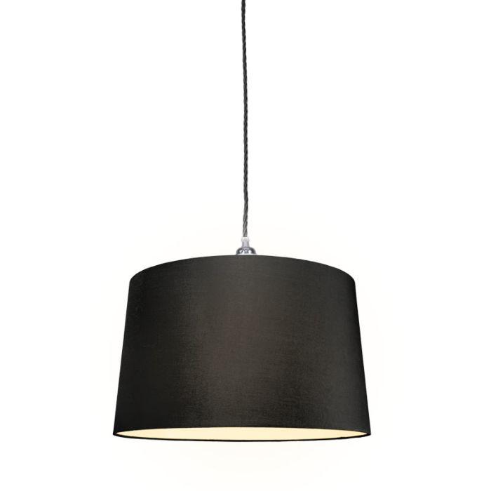 Hanglamp-Cavo-Classic-chroom---zwart-met-kap-45cm-zwart