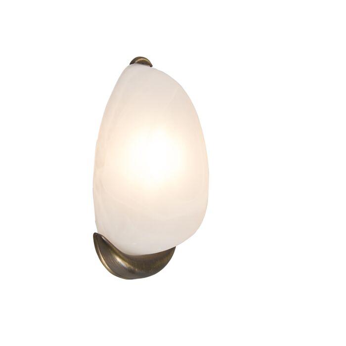 Wandlamp-Dante-albaster-glas-met-brons