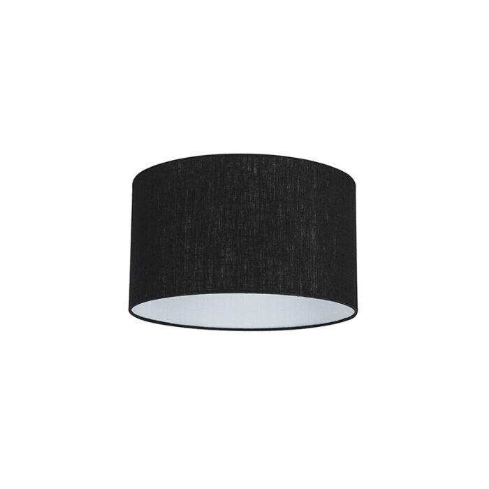 Stoffen-lampenkap-zwart-35/35/20