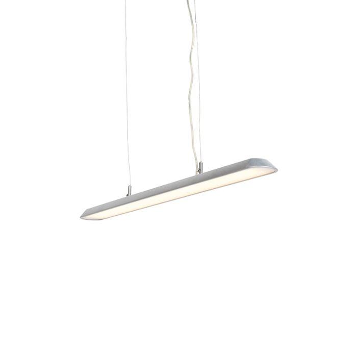 Moderne-langwerpige-hanglamp-zilver-100cm-incl.-LED---Duct-S