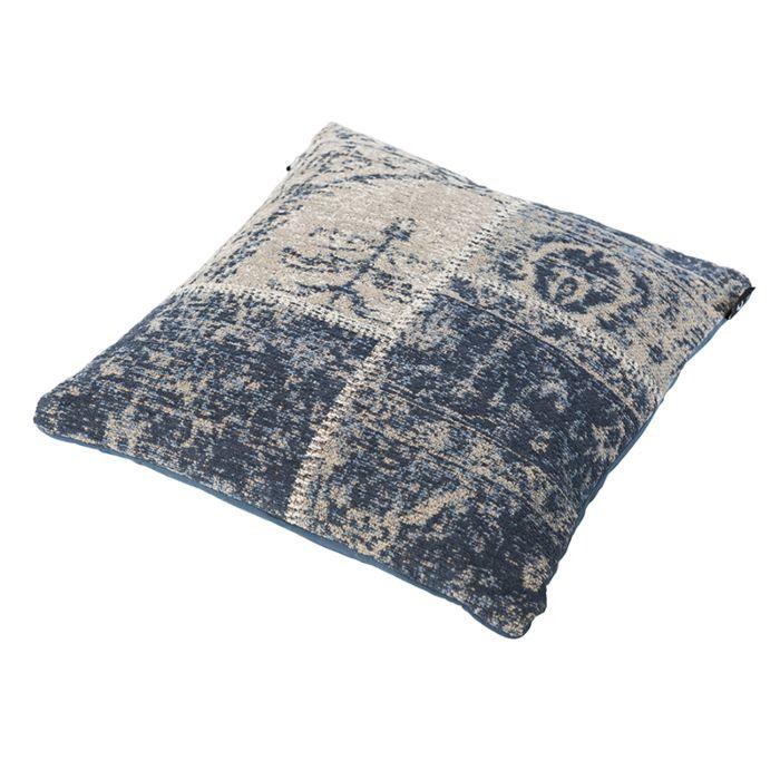 Vintage-vierkant-kussen-blauw-45-x-45cm---Agra